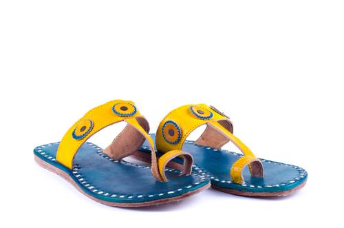 Fluorescent Leather slipper