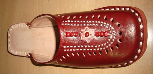 Leather half shoe