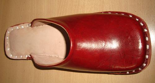 Plain Leather Half Shoe