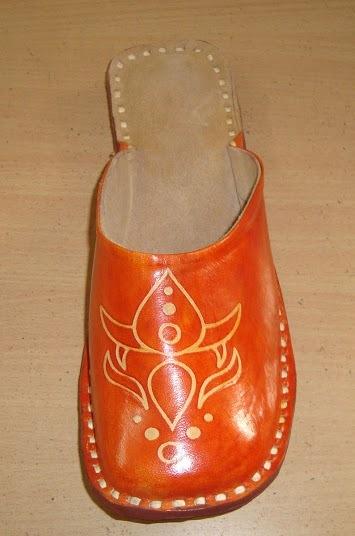 Organge Half Leather Shoe