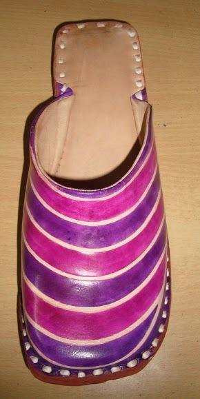 Purple Leather Half Shoe