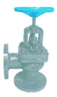 Cast Iron Globe Stop Valve Right Angle IBR