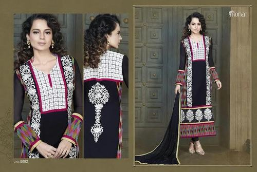 Black Embroidered Suit