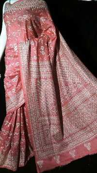 Kantha embroidery silk sarees