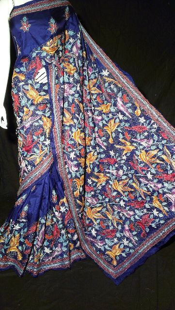 kantha embroidery silk sarees