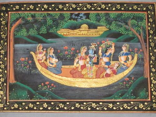 Radha krishna Boating In River Jamuna