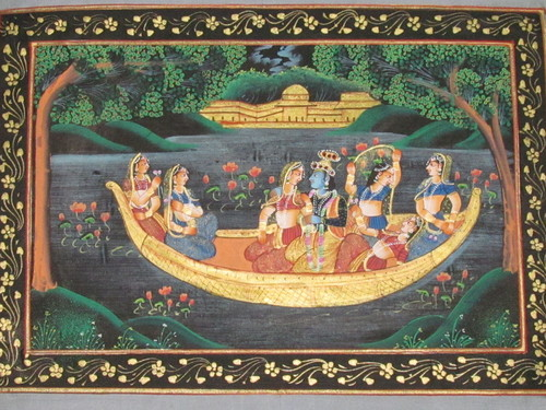 Radha krishna Boating In River Jamuna