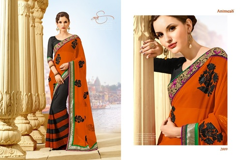 Sequence Work Georgette Sarees
