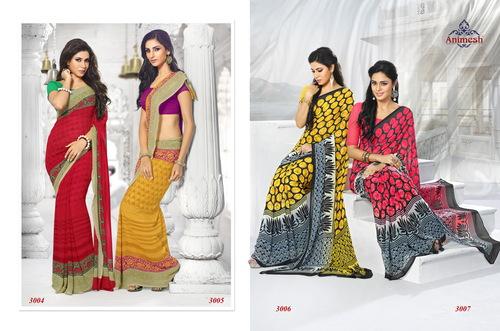 Multicolor Printed Sarees