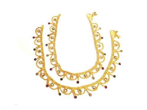 Designer Gold Plated Payal