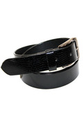 SHINY FORMAL BLACK LEATHER BELT