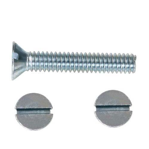 Slotted Flat Head Machine Screw