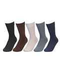 Calf Length Single Color Fine Cotton Socks