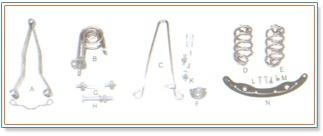 Bicycle Saddle Parts