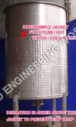Pharmaceutical Stainless Steel Dimple Jacket Tanks