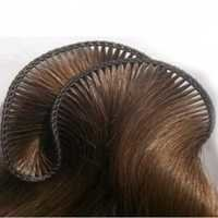 Hand tied weft hair