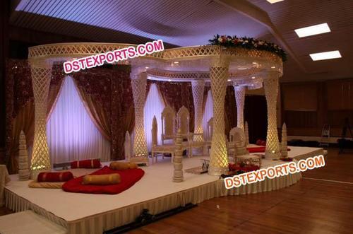 Asian Wedding Crystal Mandap