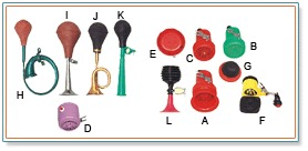 Different Types of Bicycle Horns