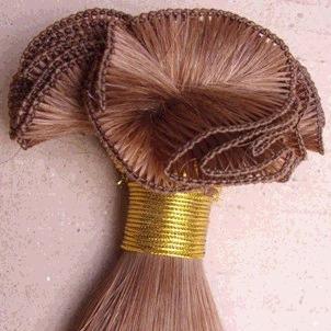Thread weft hair