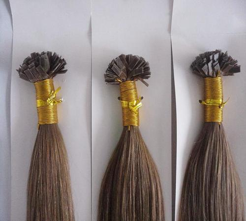 Hair Extensions with Keratin Tip