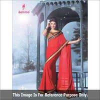 Designer Red Sarees
