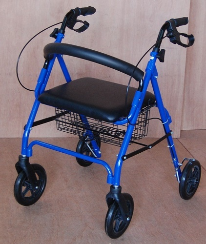 ROLLATOR with Seat, Backrest & Brakes
