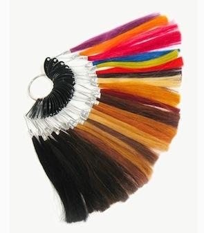 Human hair color ring