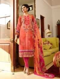 Party Wear Orange Georgette Marvellous Suit