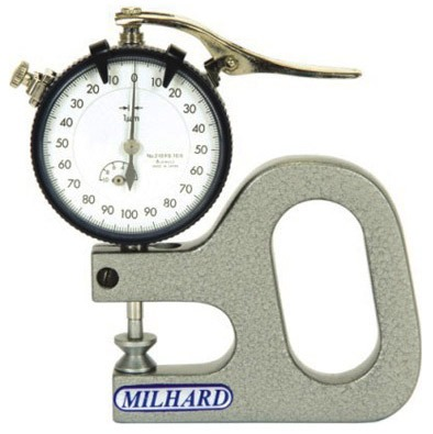Dial Thickness Gauge for Extremely Thin Objects