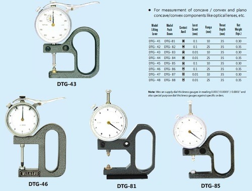 Dial Thickness Gauges - Series - DTG