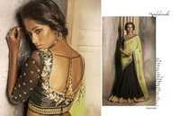 Fancy Black Designer Saree