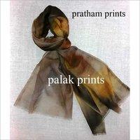 Hand Print Wool scarf