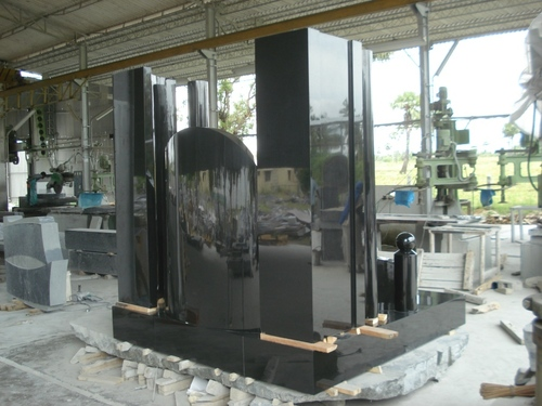 Black Galaxy Granite Monument