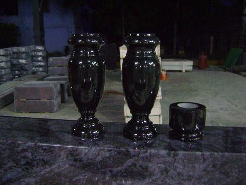 Black Granite Vases