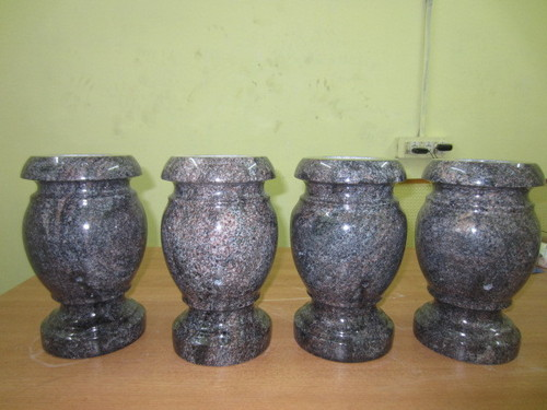 Imperial Gray Granite Vases