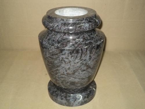 Mountain Green Beveled Granite Vases