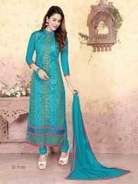 Blue Cotton  Designer Indian Salwar Suit