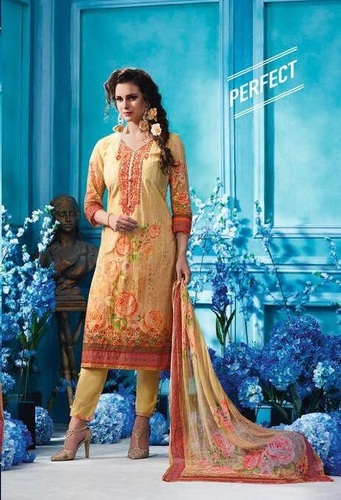 Stylish embroidered salwars on organdi fabric