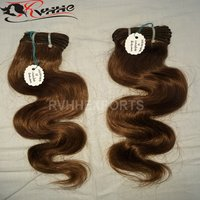 Single Drawn Machine Weft Wavy Indian Human Hair