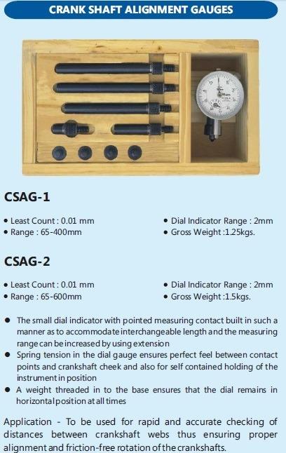 Crank Shaft Alignment Gauge L.c. 0.01mm