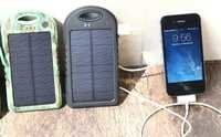 2014 rechargeable 5000mah solar power bank