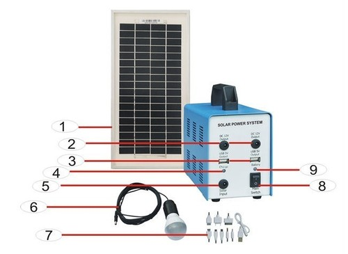 30W solar home system solar charger for home