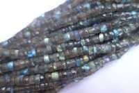 13 inch  natural labradorite Faceted tyre beads single strand 5mm-6mm
