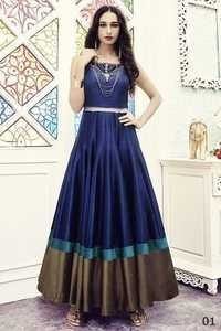 Blue Wedding Wear Anarkali Suit
