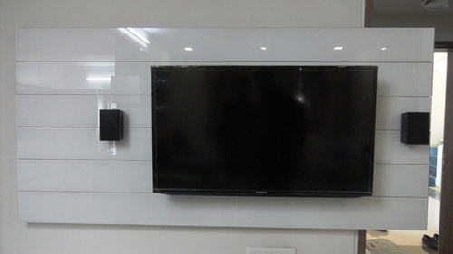 Back Painted Glass TV Unit