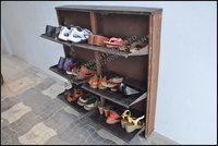 3 Door Shoe Rack