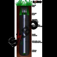 Dual Pipe GI Earthing Electrode