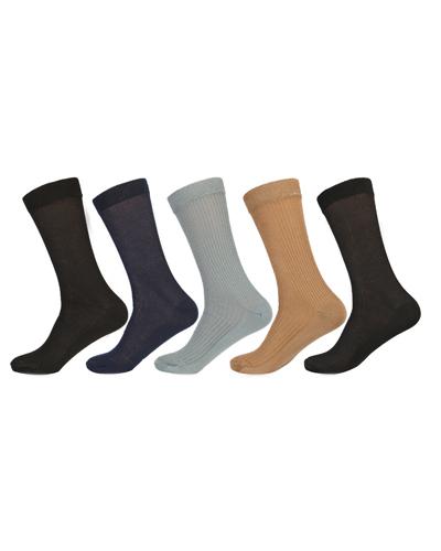 Calf Length Rib Socks