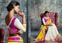 White Color Sarees