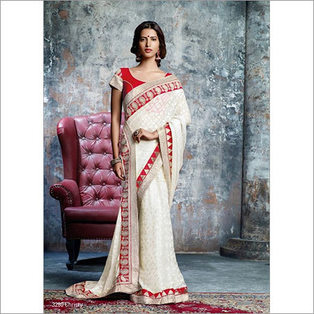 White Party Saree